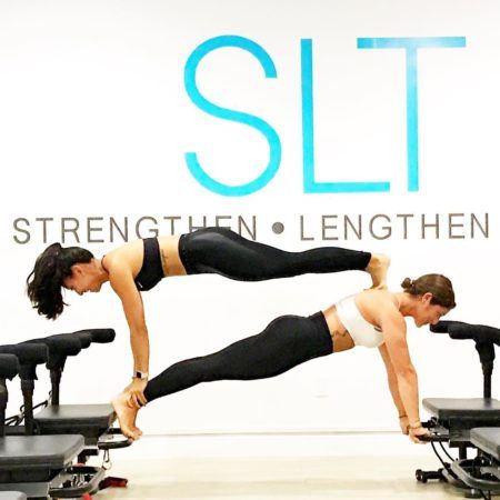 Instructors planking
